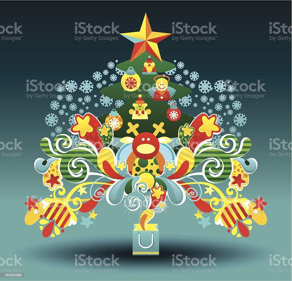 La Stella Di Natale Canzone.Canzone Di Natale Con Un Albero Immagini Vettoriali Stock E Altre