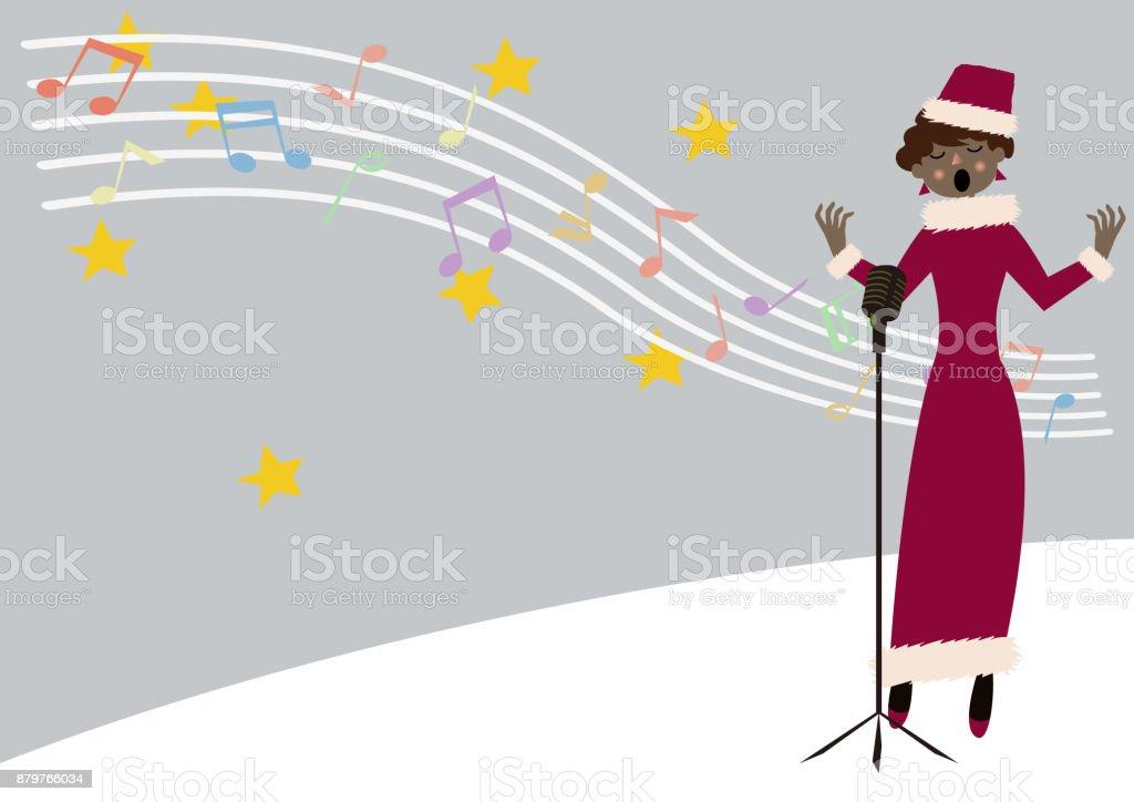 クリスマス Songfemale コーラス季節のクリップアート冬のイメージ