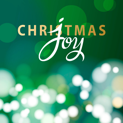 Christmas Sparkling Green Background