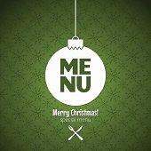 christmas special menu design