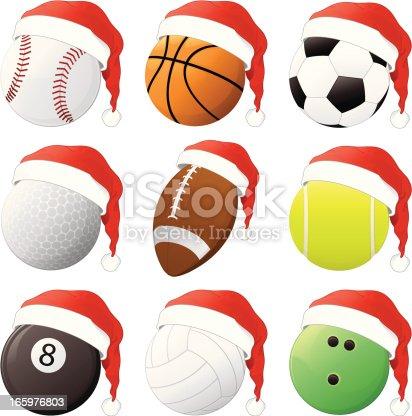 istock Christmas Sports Balls 165976803