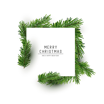 Christmas Square Background Layout