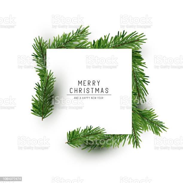 Vetores de Layout De Fundo De Natal Quadrado e mais imagens de Amor