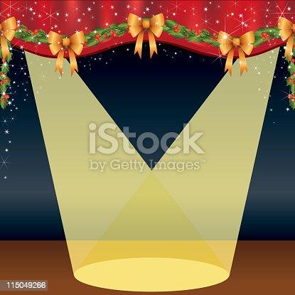 istock Christmas Stage With Spotlight 115049266