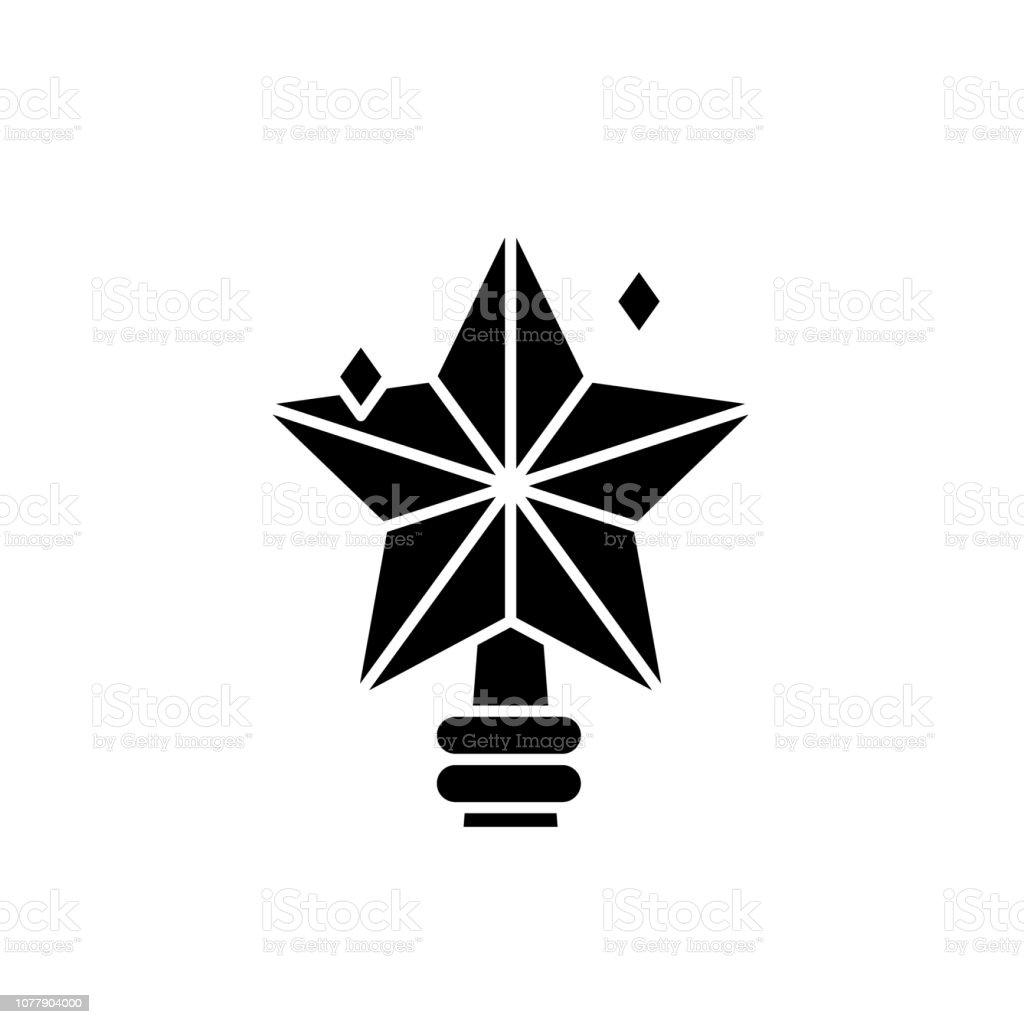 Stern Weihnachten.Schwarzer Stern Weihnachten Vektorzeichen Auf Isolierte Hintergrund Weihnachten Sterne Konzept Symbol Abbildung Stock Vektor Art Und Mehr Bilder Von