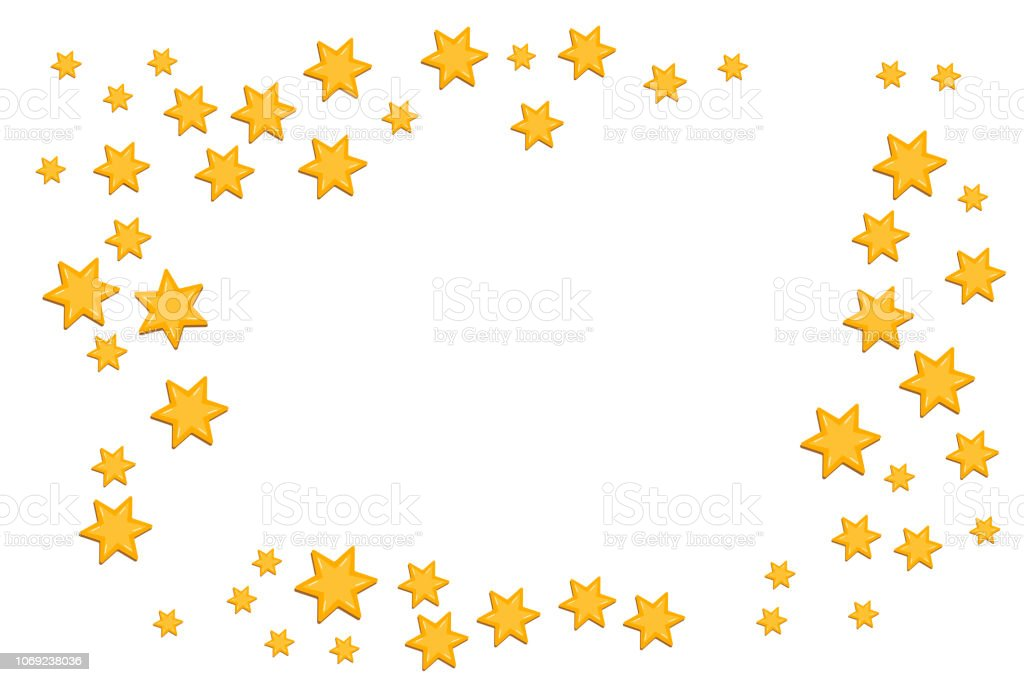 Christmas Star Frame For Designing Greeting Card Holiday
