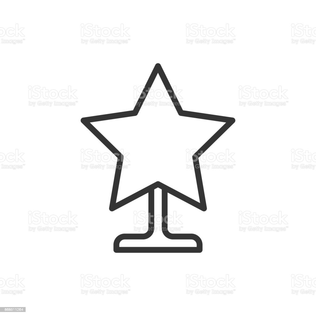 Christmas Star Silhouette.Christmas Star Thin Line Icon New Year Celebration Outline