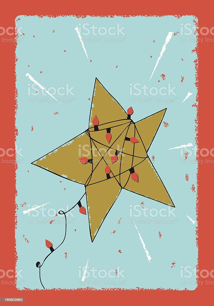 Christmas star royalty-free stock vector art