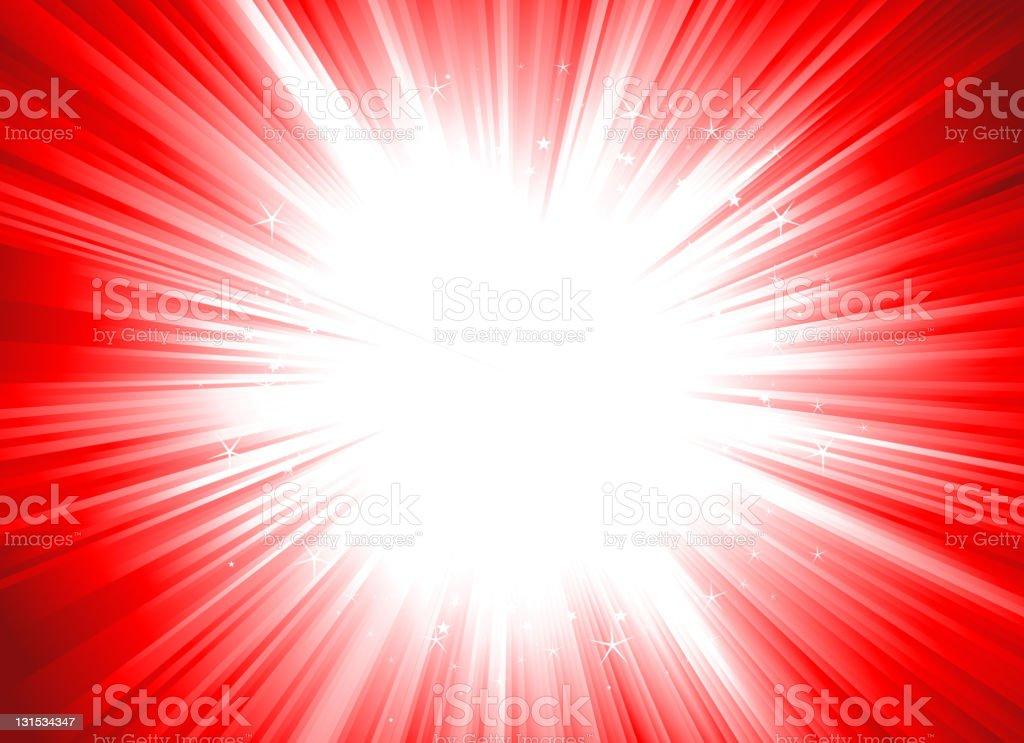Christmas Starburst (Dynamic Editable Colors) royalty-free stock vector art