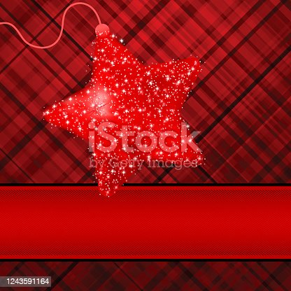 Christmas stars on red background. EPS 8 vector file included