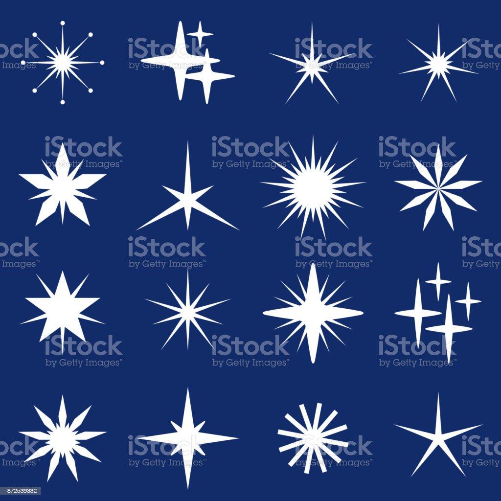 Christmas Stars vector art illustration