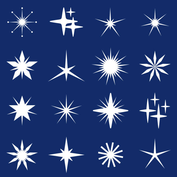 christmas stars - abstract clipart stock illustrations
