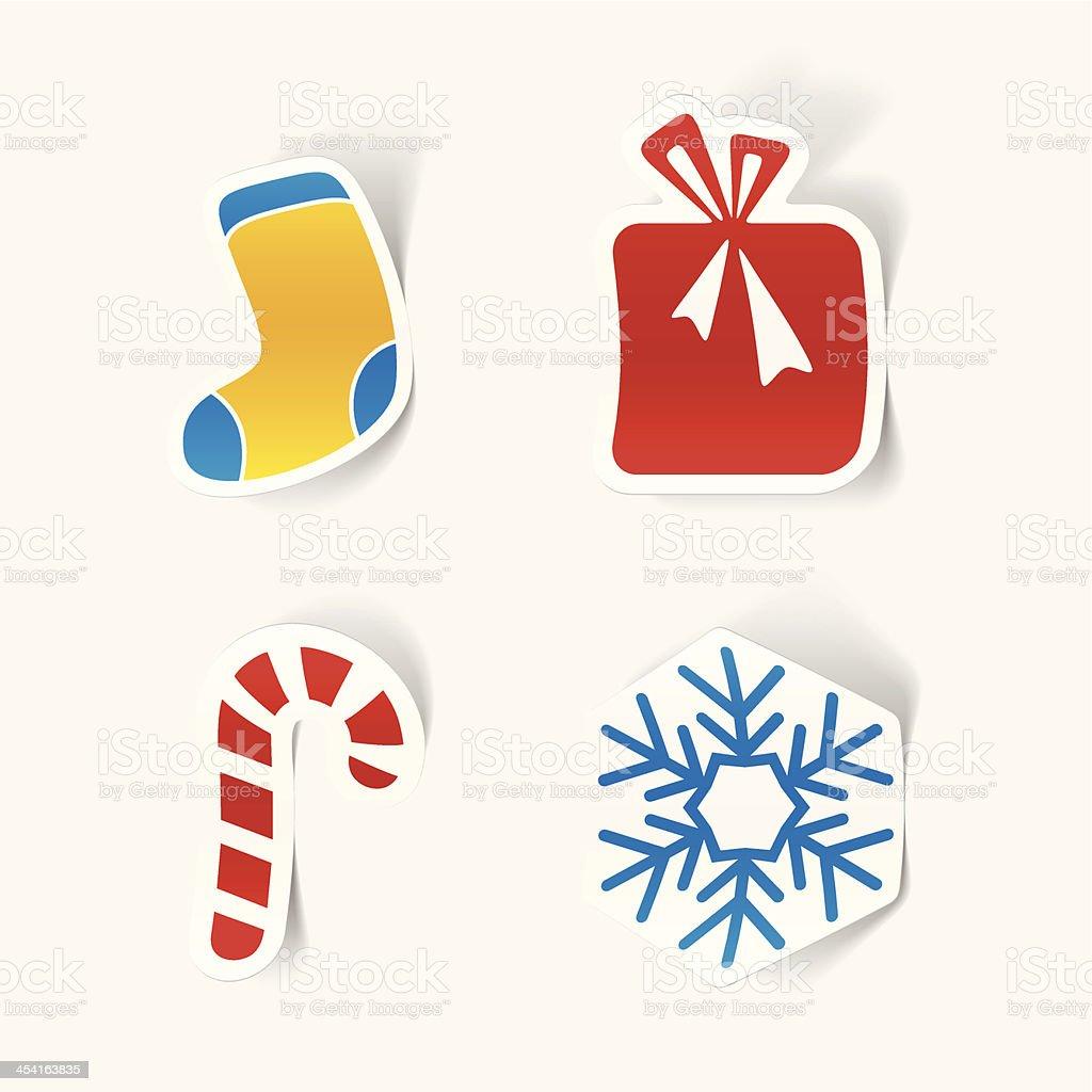 Christmas sticker vector art illustration