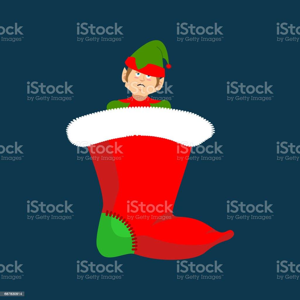 Weihnachtsstrumpf Und Santa Elf Claus Helferlein Traditionellen ...