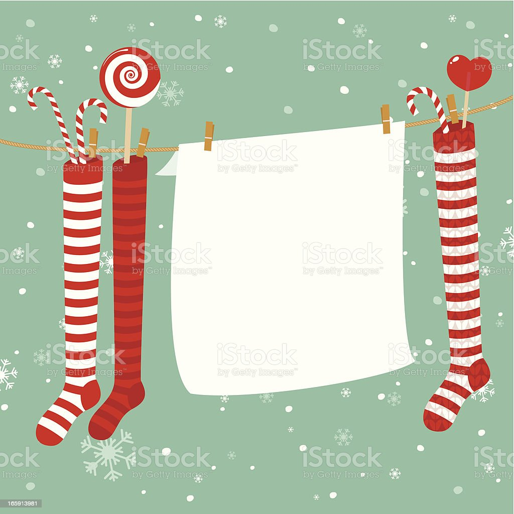 Christmas stockings decoration royalty-free christmas stockings decoration stock vector art & more images of backgrounds