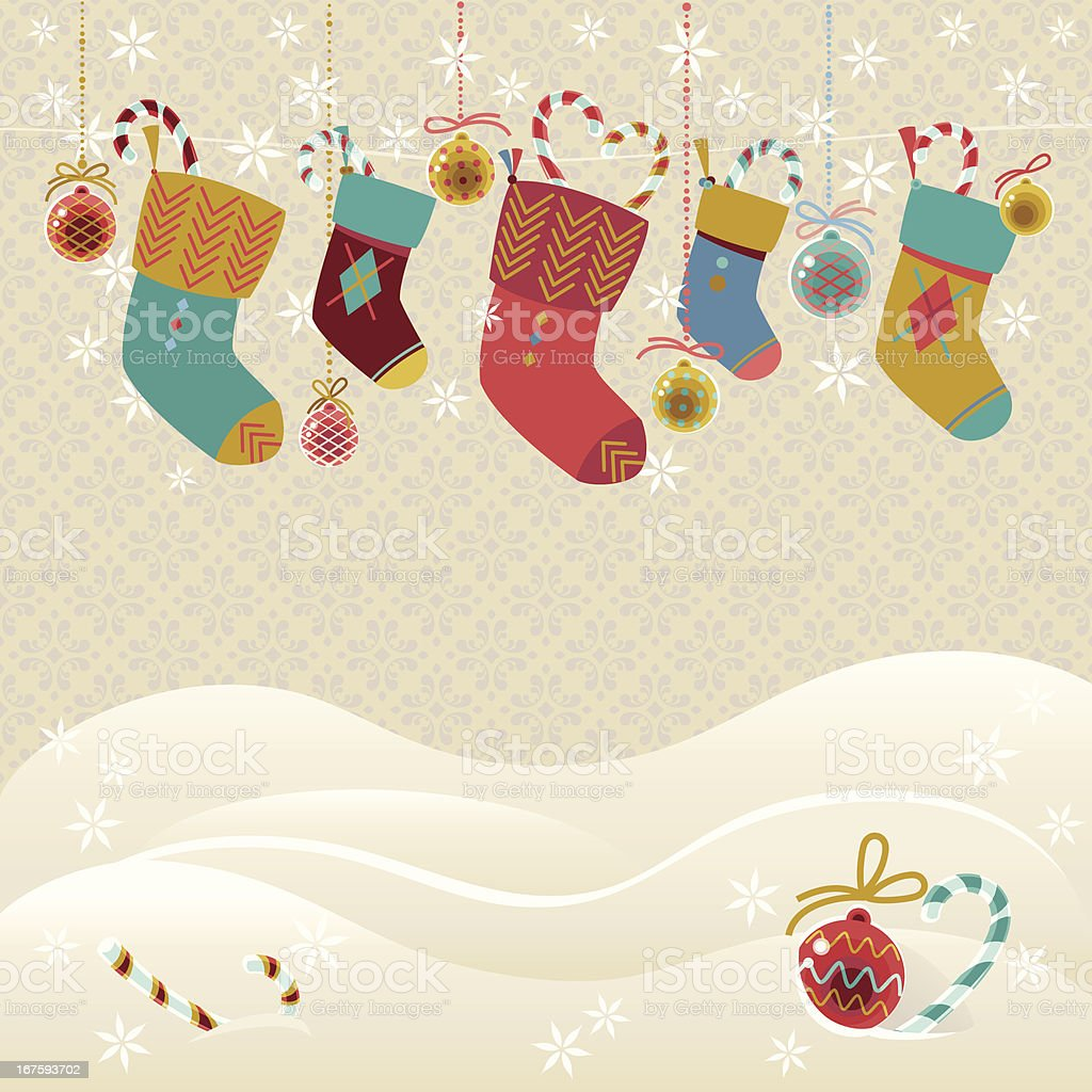 Christmas Stockings - Royalty-free Backgrounds stock vector