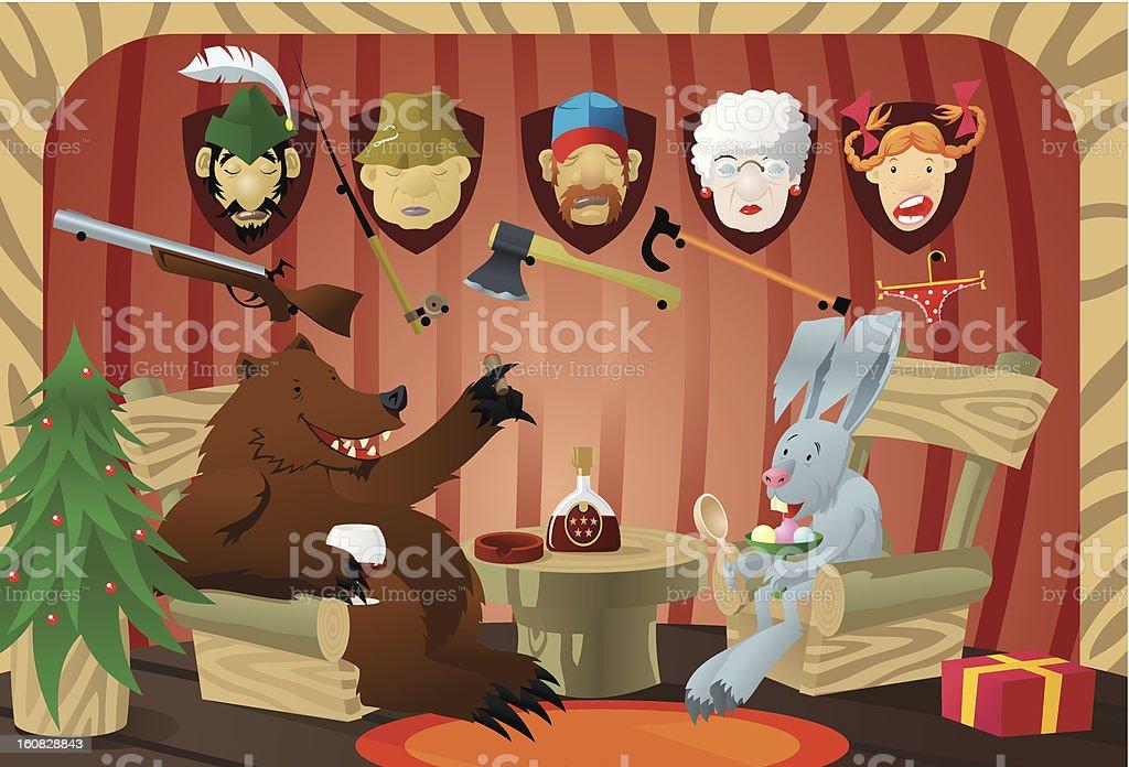 Christmas story vector art illustration