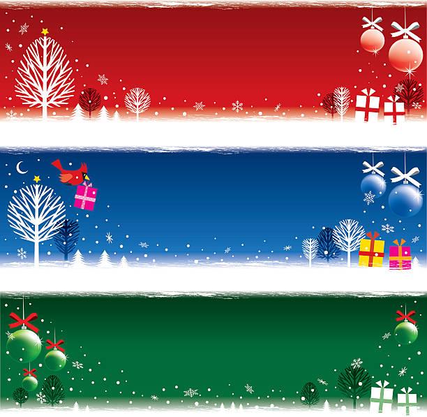 Weihnachten strip Banner – Vektorgrafik
