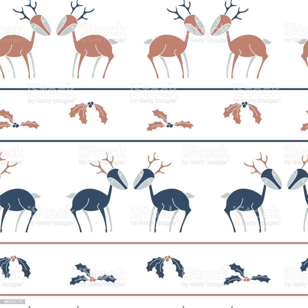 Christmas stripes seamless pattern with deers royalty-free christmas stripes seamless pattern with deers stock vector art & more images of abstract