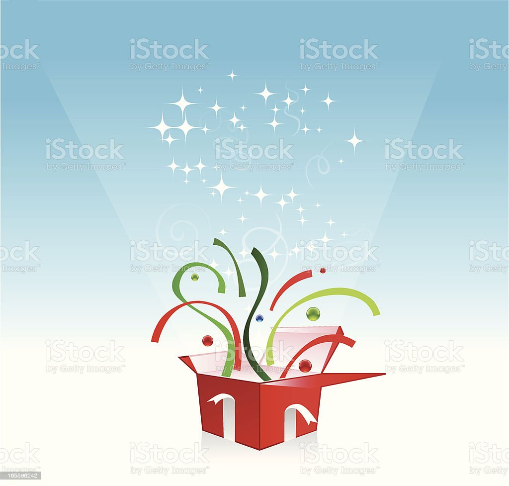 Christmas Surprise royalty-free stock vector art