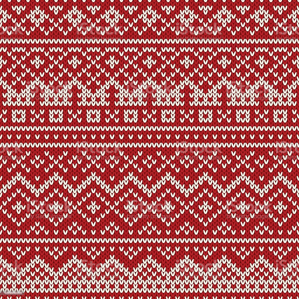 Christmas Sweater Design Seamless Holiday Knitted Pattern ...