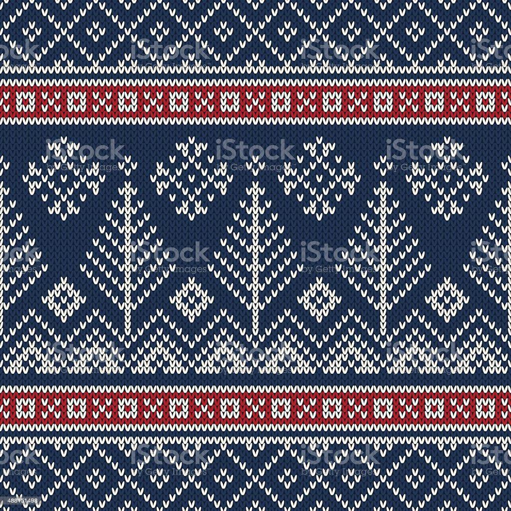 Christmas Sweater Pattern.Christmas Sweater Design Seamless Knitting Pattern Stock