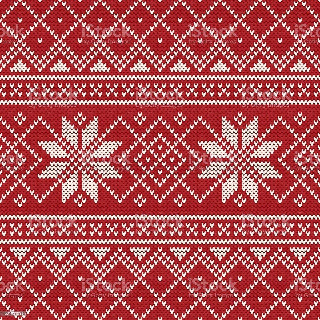 cc9d901a3609 Christmas Sweater Design Seamless Knitting Pattern Stock Vector Art ...