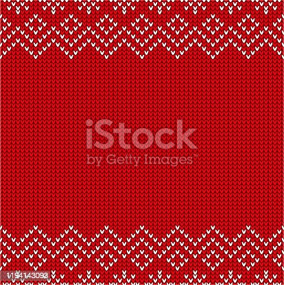 istock Christmas sweater pattern 1194143093