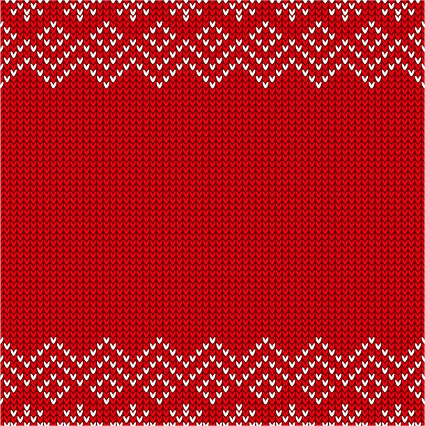 christmas sweater pattern - holiday season stock illustrations