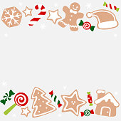 Christmas sweet and cookies frame - colorful