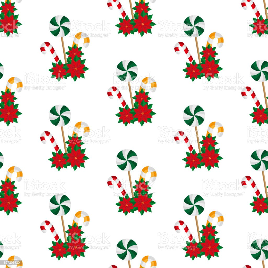 christmas-sweets-poinsettia-seamless-pattern-vector-illustration-vector-id867269420