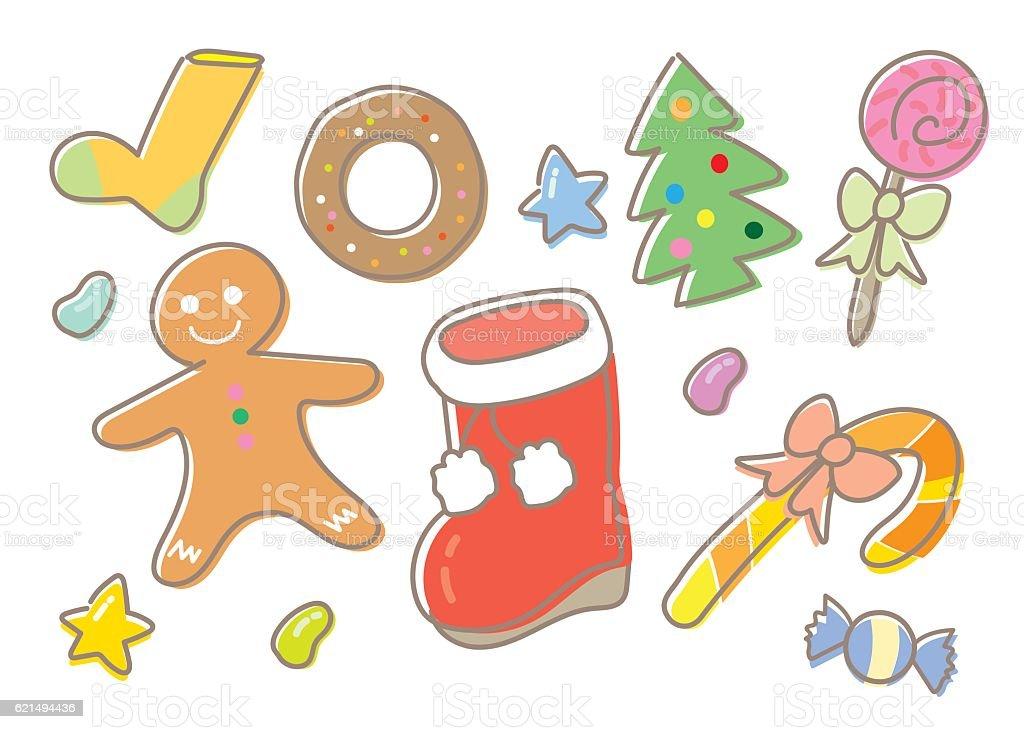 Christmas Sweets set christmas sweets set – cliparts vectoriels et plus d'images de aliment libre de droits