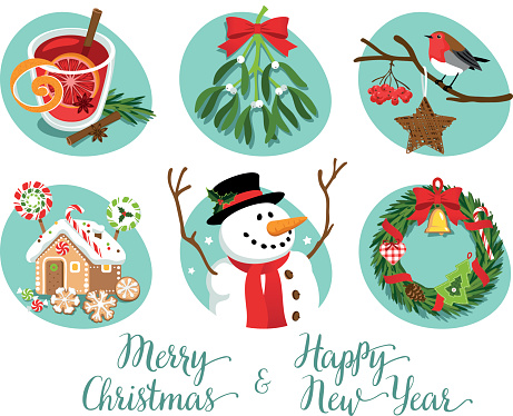 Christmas symbols and decorations