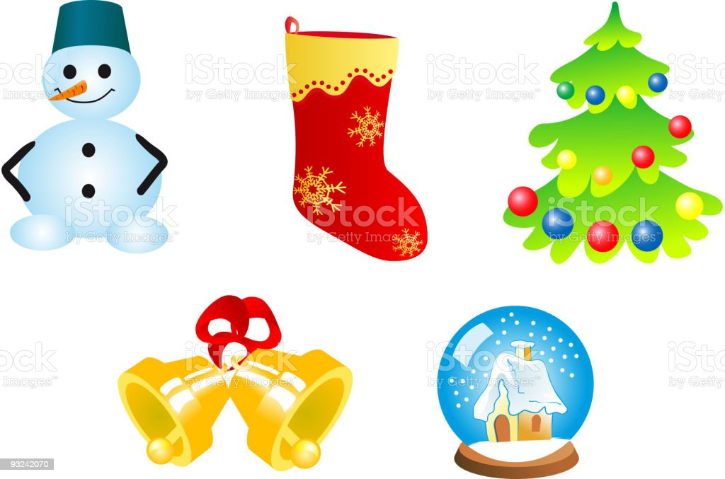 Christmas Symbols Stock Vector Art More Images Of Bell 93242070