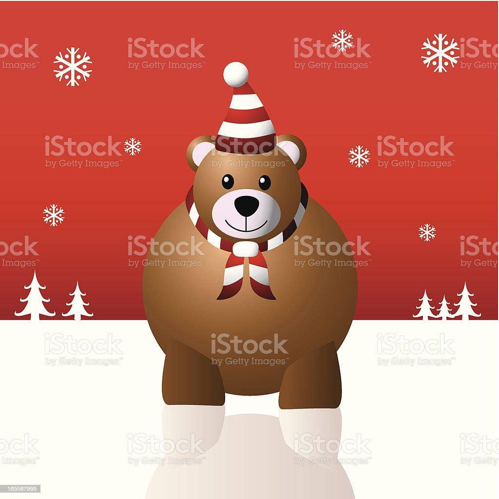 Christmas Teddy Bear royalty-free stock vector art