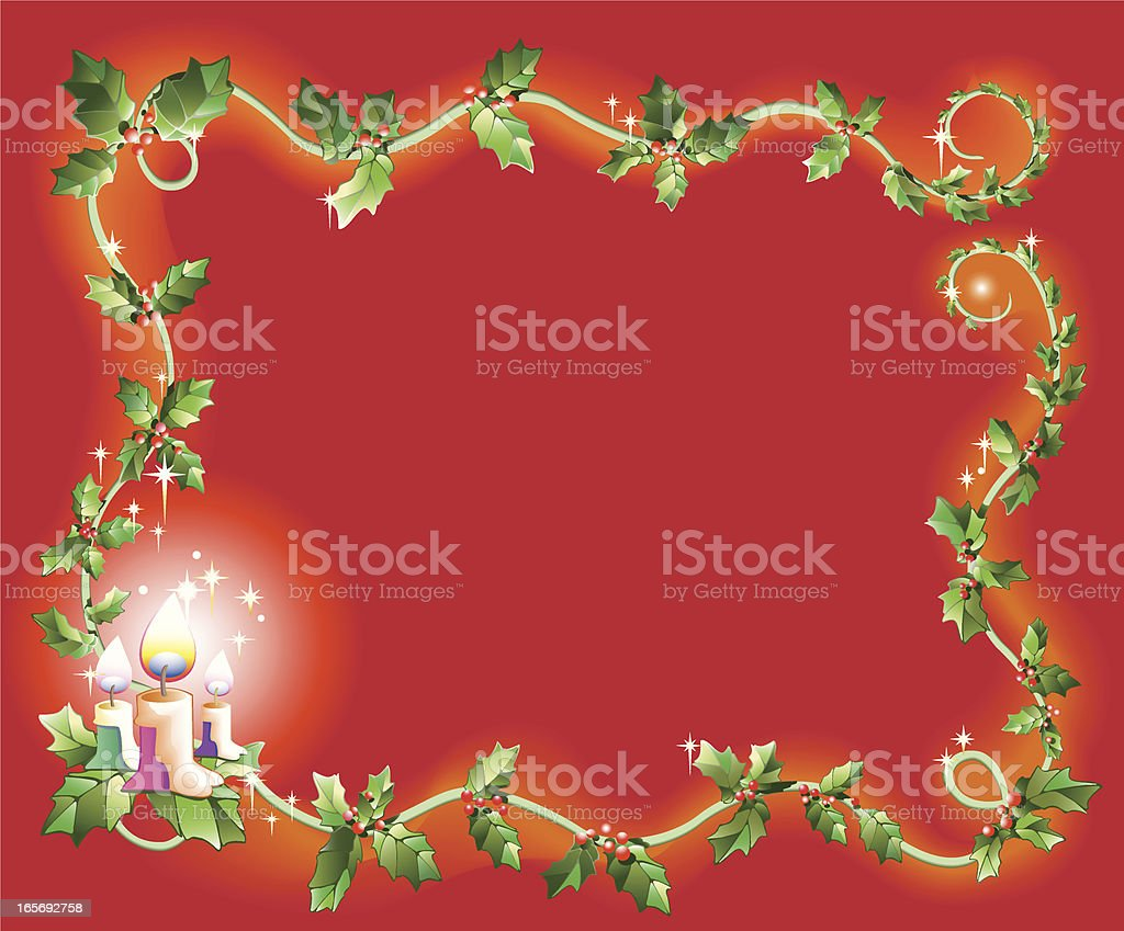 christmas theme frame royalty-free stock vector art