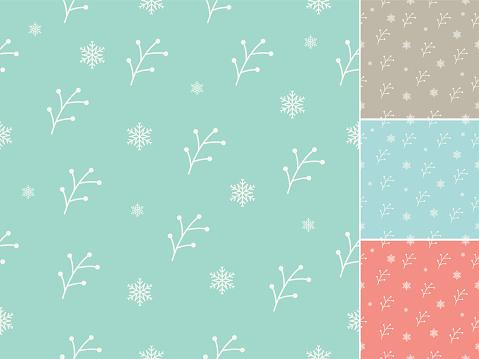 Christmas theme hand drawn seamless pattern