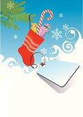 Christmas theme template for advertising (Sock)