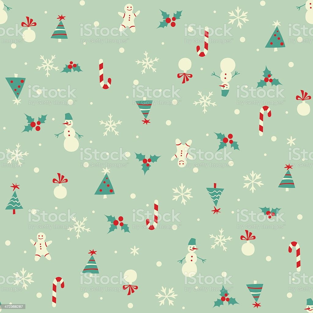 christmas themed pattern on bluish background stock vector art