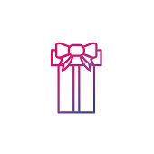 Holiday and Christmas think line icons.