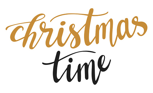 Christmas time hand lettering. Winter season quotes and phrases for cards, banners, posters, mug, scrapbooking, pillow case, phone cases and clothes design.