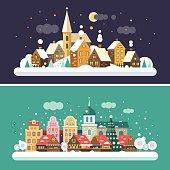 Christmas time. Urban and Village