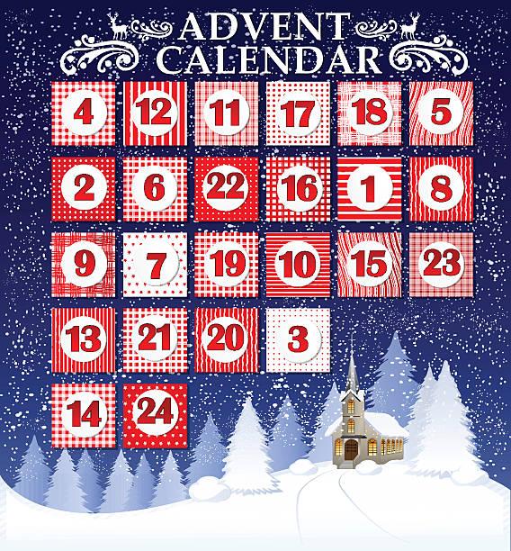 ilustrações, clipart, desenhos animados e ícones de tempo de natal - advento