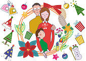Express the image of Christmas with cute illustrations