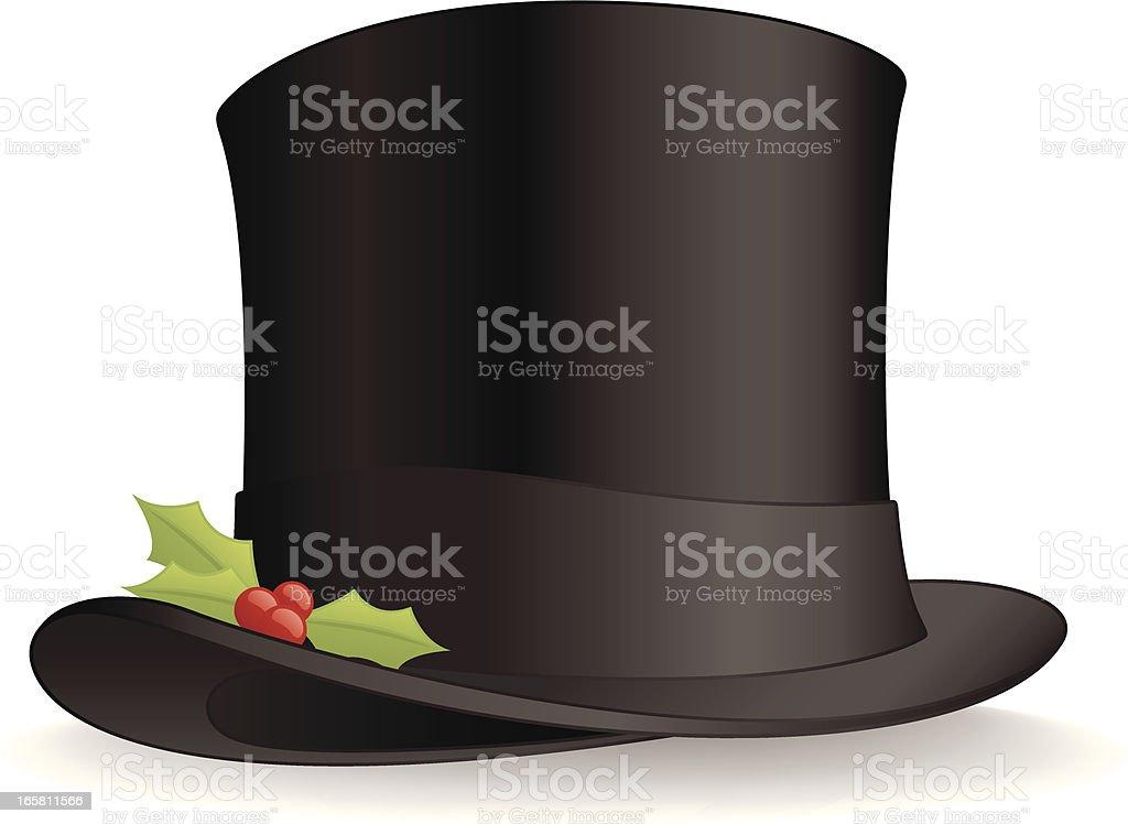 Christmas Top Hat vector art illustration
