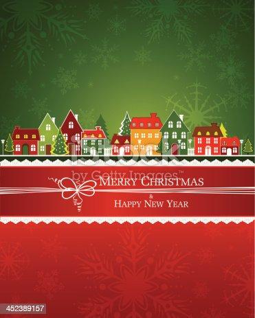 Christmas Street Scene. EPS 10 file.