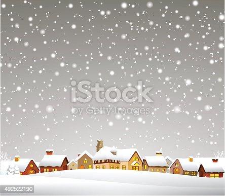 istock Christmas Town 492522190