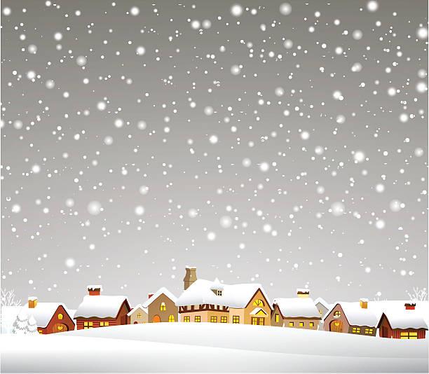 クリスマスタウン - 雪点のイラスト素材/クリップアート素材/マンガ素材/アイコン素材