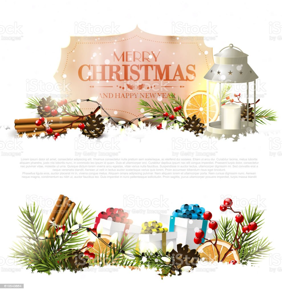 Christmas Traditional Greeting Card Stock Vector Art & More Images ...