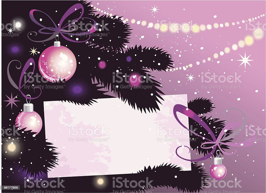 Christmas Tree and card royalty-free christmas tree and card stock vector art & more images of backgrounds